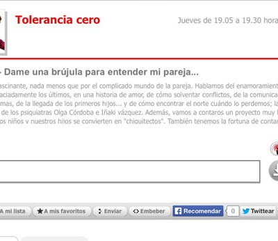 RADIO 5-Tolerancia cero